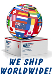 Worldwide Shipping via USPS